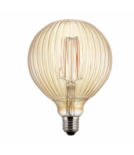 Globo LED Vintage LightED Decó Estriado Oro