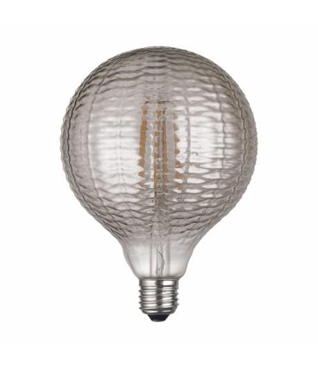 Globo LED Vintage LightED Decó Estriado Gris Fumé