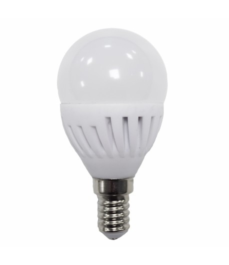 LAMPARA ESFERICA LED 9W E-14